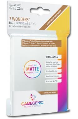 Gamegenic Sleeves: Matte 7 Wonders 67x103mm (80)