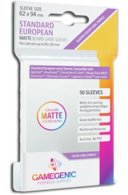 Gamegenic Sleeves: Matte Standard European 62x94mm (50)