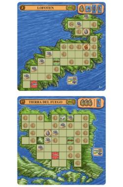 Odin: mini-uitbreiding: Lofoten, Orkney, and Tierra del Fuego