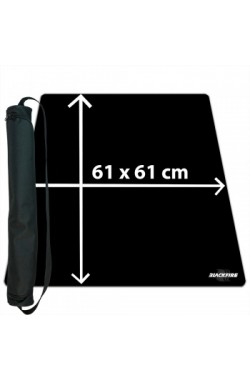 Blackfire Ultrafine Playmat - zwart 61x61cm - met draagtas