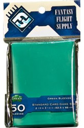 Fantasy Flight Solid Colored Card Game Sleeves 63.5x88mm (groen)