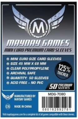 Mayday Mini European Sleeves Premium (45x68mm) - 50 stuks