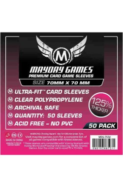 Mayday Square Sleeves Premium (70x70mm) - 50 stuks