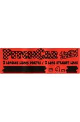 PitchCar Mini - uitbreiding 3 - Rechte Lijnen (2 stuks)