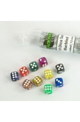 Blackfire Dice 12mm marbled D6 in Tube (10 Dice)