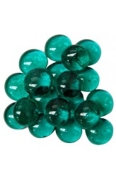 Chessex Glass Gaming Stones - Crystal Teal