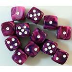 Chessex Dobbelsteen 16mm Festive Violet