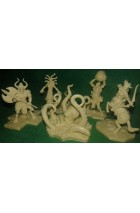 Cyclades - The 5 Creatures (miniatures)