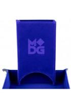 Fold Up Velvet Dice Tower - Blauw