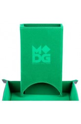Fold Up Velvet Dice Tower - Groen