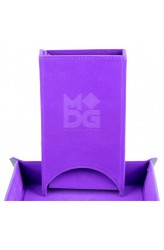 Fold Up Velvet Dice Tower - Paars