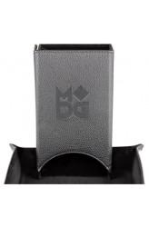 Fold Up Velvet Dice Tower - Zwart Leder