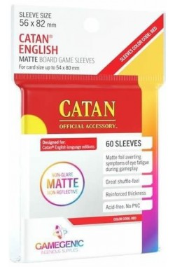 Gamegenic Sleeves: Matte Catan-Sized 56x82mm (50)