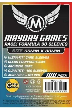 Mayday Race Formula 90 Sleeves (55x80mm) - 100 stuks