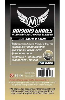 Mayday Roman Card Sized Tribune Sleeves Premium (49x93mm) - 50 stuks