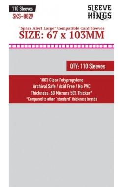 Sleeve Kings Space Alert Large Card Sleeves (67x103mm) - 110 stuks
