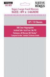 Sleeve Kings Super Large Card Sleeves (89x146mm) - 110 stuks