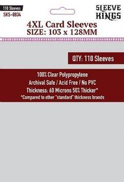 Sleeve Kings 4XL Card Sleeves (103x128mm) - 110 stuks