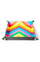 Folding Dice Tray 10x10 Leder en Fluweel - Rainbow