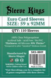 Sleeve Kings Euro Card Sleeves (59x92mm) - 110 stuks