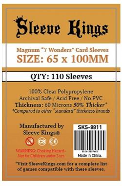 Sleeve Kings Magnum 7 Wonders Card Sleeves (65x100mm) - 110 stuks