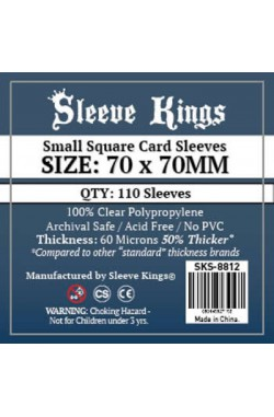 Sleeve Kings Small Square Card Sleeves (70x70mm) - 110 stuks
