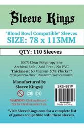 Sleeve Kings Bloodbowl Compatible Card Sleeves (78x113mm) - 110 stuks