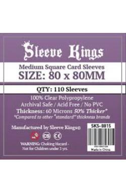 Sleeve Kings Medium Square Card Sleeves (80x80mm) - 110 stuks