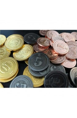 50 Metal Industrial Coin Board Game Upgrade Set