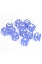 Chessex Dobbelsteen 16mm Frosted Blue and White