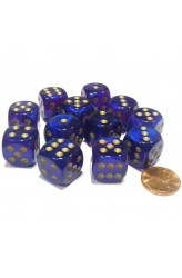 Chessex Dobbelsteen 16mm Borealis Royal Purple and Gold