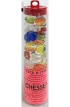 Chessex Glass Gaming Stones - Assorted Catseye (40+)