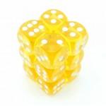 Chessex Dobbelsteen 16mm Translucent Geel