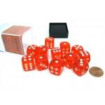 Chessex Dobbelsteen 16mm Translucent Oranje