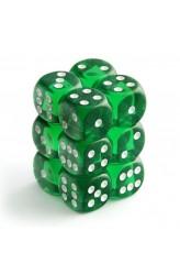 Chessex Dobbelsteen 16mm Translucent Groen