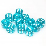 Chessex Dobbelsteen 16mm Translucent Teal