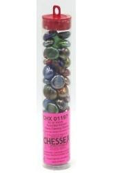 Chessex Glass Gaming Stones - Assorted Iridized (40+)