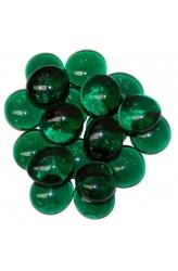 Chessex Glass Gaming Stones - Crystal Dark Green