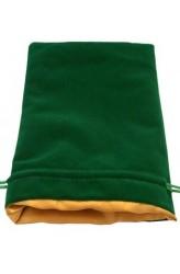 Dice Bag: groen fluweel met gouden voering (15x20cm)
