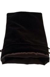 Dice Bag: zwart fluweel met zwarte voering (15x20cm)
