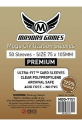 Mayday Mega Civilization Premium Sleeves (75x105mm) - 50 stuks