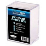 Ultra Pro 2-Piece 250 Count Clear Card Storage Box