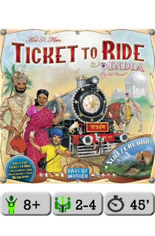 Ticket To Ride India Map.Ticket To Ride Map Collection Volume 2 India And Switzerland